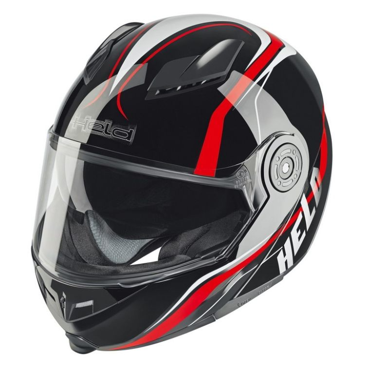 4880a56c58a Moto přilby Held • Katalog prodejce • Odklápěcí • Hexagon černá červená